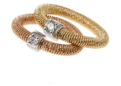 magic wire nr25 - trilogy anillo oro extra glitter 3 - anillos mujer oro flexibles amarillo - anillos modernos - joyeria marga mira