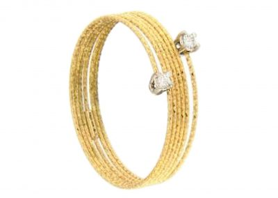 silenzio anillo magic wire nr14 - anillo hilo oro diamantes - anillos mujer oro amarillo - anillos moda - joyeria marga mira