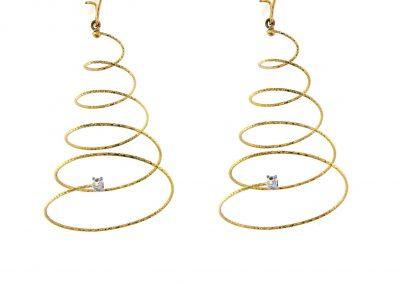 silenzio pendientes espiral dorados - pendientes oro modernos - comprar online pendientes juveniles - magicwire - pendientes modernos - joyeria marga mira