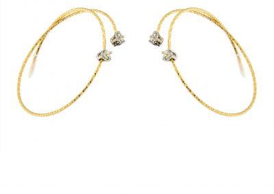 silenzio pendientes magic wire nr15 - pendientes de aro hilo oro diamantes - aretes mujer oro amarillo - aretes moda - joyeria marga mira