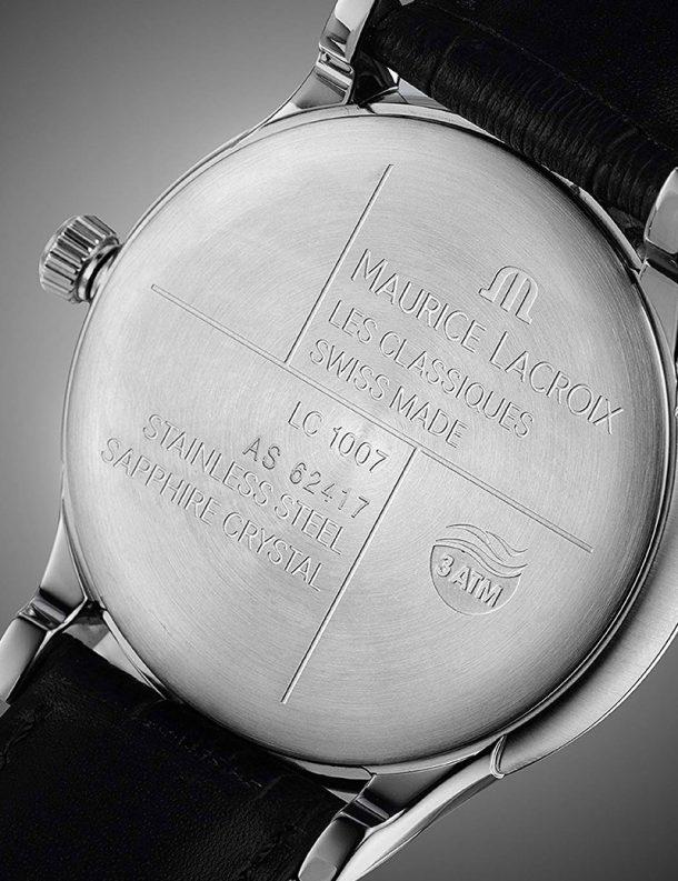Reloj Maurice Lacroix Les Classiques LC1007-SS001-330 d - correa piel - esfera negra