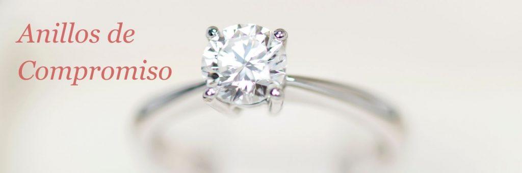 anillos compromiso alicante - anillos pedida alicante - anillos oro blanco con diamante - joyeria marga mira