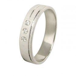 alianza oro blanco con diamantes a1034b - alianzas boda alicante - joyeria marga mira - gold wedding in alicante - jewelry in alicante