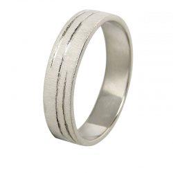 alianza plana matizado espiral 1039b - alianzas boda alicante - joyeria marga mira - gold wedding in alicante - jewelry in alicante