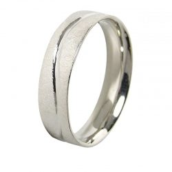 alianza plana oro blanco a1045b - alianzas boda alicante - joyeria marga mira - gold wedding in alicante - jewelry in alicante