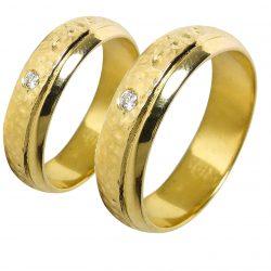 alianzas bodas oro amarillo A1011A - joyeria marga mira - alianzas bodas alicante