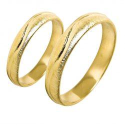 alianzas bodas oro amarillo A1012A - joyeria marga mira - alianzas bodas alicante
