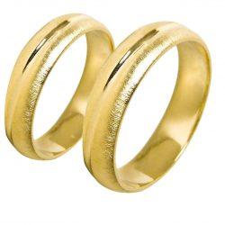 alianzas bodas oro amarillo A1013A - joyeria marga mira - alianzas bodas alicante