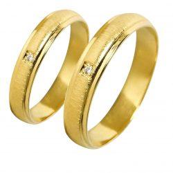 alianzas bodas oro amarillo A1015A - joyeria marga mira - alianzas bodas alicante