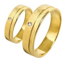 alianzas bodas oro amarillo A1017A - joyeria marga mira - alianzas bodas alicante