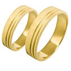alianzas bodas oro amarillo A1018A - joyeria marga mira - alianzas bodas alicante