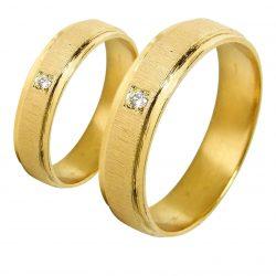 alianzas bodas oro amarillo A1019A - joyeria marga mira - alianzas bodas alicante