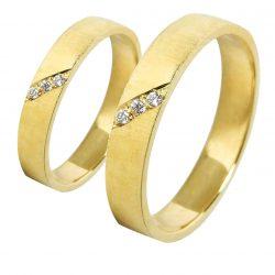alianzas bodas oro amarillo A1020A - joyeria marga mira - alianzas bodas alicante