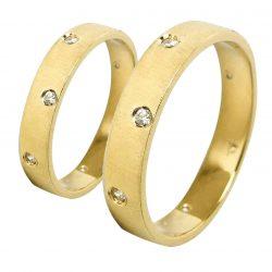 alianzas bodas oro amarillo A1021A - joyeria marga mira - alianzas bodas alicante