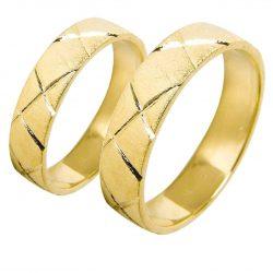 alianzas bodas oro amarillo A1023A - joyeria marga mira - alianzas bodas alicante