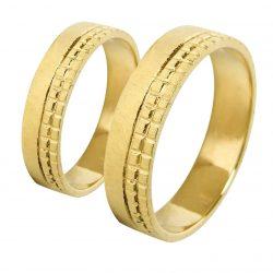 alianzas bodas oro amarillo A1024A - joyeria marga mira - alianzas bodas alicante
