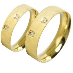 alianzas bodas oro amarillo A1025A - joyeria marga mira - alianzas bodas alicante