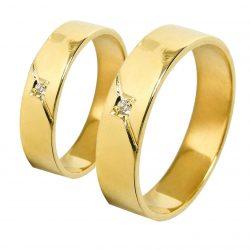 alianzas bodas oro amarillo A1026A - joyeria marga mira - alianzas bodas alicante
