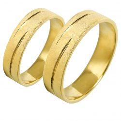 alianzas bodas oro amarillo A1027A - joyeria marga mira - alianzas bodas alicante