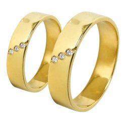 alianzas bodas oro amarillo A1028A - joyeria marga mira - alianzas bodas alicante