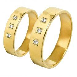 alianzas bodas oro amarillo A1031A - joyeria marga mira - alianzas bodas alicante
