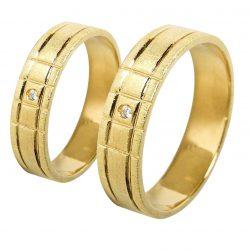 alianzas bodas oro amarillo A1032A - joyeria marga mira - alianzas bodas alicante