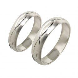 alianzas bodas oro blanco A1037B - joyeria marga mira - alianzas bodas alicante