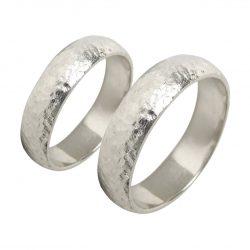 alianzas bodas oro blanco A1038B - joyeria marga mira - alianzas bodas alicante