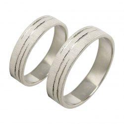 alianzas bodas oro blanco A1039B - joyeria marga mira - alianzas bodas alicante