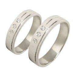 alianzas bodas oro blanco A1040B - joyeria marga mira - alianzas bodas alicante