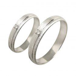alianzas bodas oro blanco A1041B - joyeria marga mira - alianzas bodas alicante
