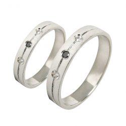 alianzas bodas oro blanco A1043B - joyeria marga mira - alianzas bodas alicante