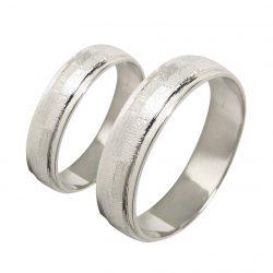 alianzas bodas oro blanco A1044B - joyeria marga mira - alianzas bodas alicante