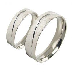 alianzas bodas oro blanco A1045B - joyeria marga mira - alianzas bodas alicante