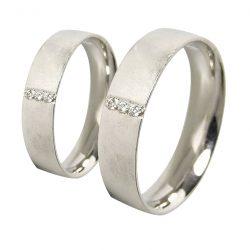 alianzas bodas oro blanco A1046B - joyeria marga mira - alianzas bodas alicante