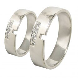 alianzas bodas oro blanco A1048B - joyeria marga mira - alianzas bodas alicante