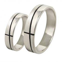 alianzas bodas oro blanco A1051BN - joyeria marga mira - alianzas bodas alicante