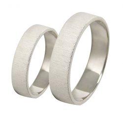 alianzas bodas oro blanco A1053B - joyeria marga mira - alianzas bodas alicante