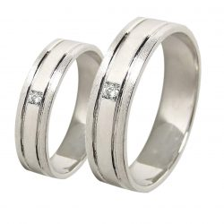 alianzas bodas oro blanco A1054B - joyeria marga mira - alianzas bodas alicante-min