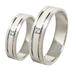 alianzas bodas oro blanco A1054B - joyeria marga mira - alianzas bodas alicante